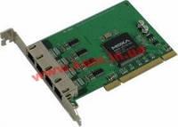 Адаптер на шине Universal PCI, 4xRS-232/ 921,6кбод, 8-pin RJ45, защита от импульсных поме (CP-104JU)