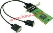 2х портовая UPCI низкопрофильная плата, с кабелем DB9M, RS-232 (CP-102UL-DB9M)