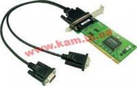 Низкопрофильный адаптер на шине Universal PCI, 2xRS-232/ 921,6кбод, защита от импульсны (CP-102UL-T)