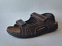 Мужские удобные стильные коричневые сандалии, кожаная ортопедическая стелька Inblu