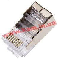Коннектор АМР экранированный 8P SOLID (под одножильный кабель) уп. 100шт (5-569530-3)