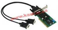 Низкопрофильный адаптер на шине Universal PCI, 2xRS-422/ 485, 921,6кбод, Female DB25 (CP-132UL-I-T)
