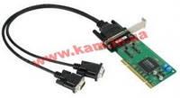 Низкопрофильный адаптер на шине Universal PCI, 2xRS-422/ 485, 921.6кбод, Female DB25 (CP-132UL-T)