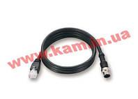 Кабель Ethernet M12 в RJ-45 с водостойким 4-pin разъемом M12D, 1 метр (CBL-M12D(MM4P)/RJ45-100 IP67)