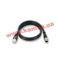 Кабель Ethernet M12 в RJ45 Cat -5E UTPP с водостойким male 8-pin A-cod (CBL-M12MM8PRJ45-BK-100-IP67)