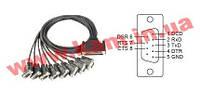 Разветвительный кабель DB78 Male в 8xDB9 Male RS-232/ 422/ 485, длина 100см (CBL-M78M9x8-100)