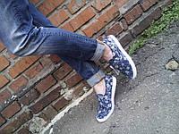 Женские слипоны кеды джинсовые 37 - 41 р-р, фото 1