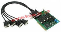 4х портовая UPCI плата, с кабелем DB9M, RS-422/ 485, с изоляцией (CP-134U-I-DB9M)