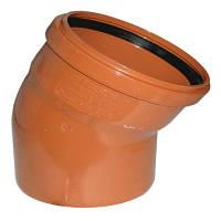 Колено канализационное 110 мм 30° внешнее