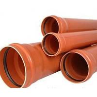 Труба наружная канализационная VALROM ПВХ 110х2000 мм