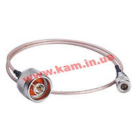 RG316 cable, QMA (male) to N-type (male), 0.5 meters (A-CRF-QMAMNM-R2-50)