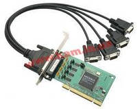 Низкопрофильный адаптер на шине Universal PCI, 4xRS-232/ 921,6кбод, Female DB44 (POS-104UL-T)