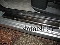Накладки на пороги Citroen C4 (Ситроен С4) Premium 4 шт. нерж.