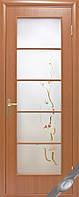 Дверь Квадра Виктория Экошпон со стеклом сатин и рисунком P3 - венге 3d
