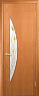 Дверь Модерн Луна Финиш бумага со стеклом сатин и рисунком P1 - ольха