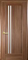 Дверь Ностра Делла ПВХ DeLuxe со стеклом сатин - золотая ольха