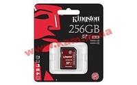 Карта памяти Kingston Ultimate SDXC 256GB Class10 UHS-I U3 R90/ W80MB/ s 4K Video (SDA3/256GB)
