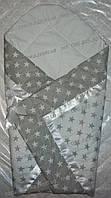 """Конверт на выписку-плед-одеяло на выписку новорожденного """"Звездочки"""", , фото 1"""