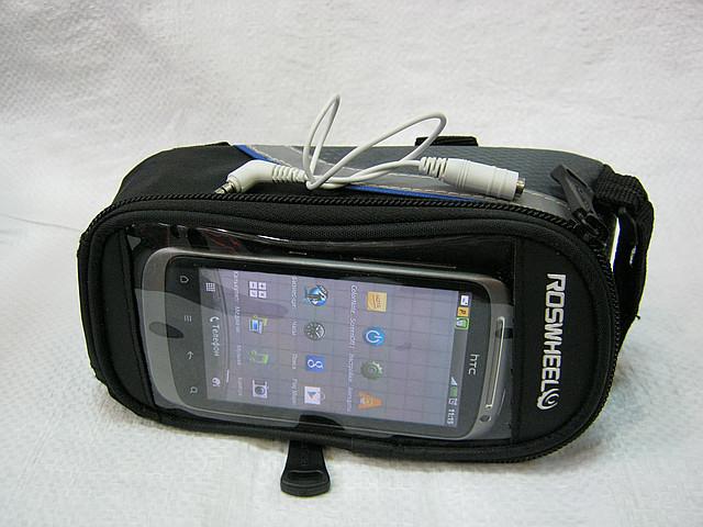 Вело сумка на раму велосипеда под смартфон.