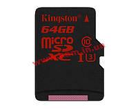 Карта памяти Class 10 UHS| U3 64GB microSDHC no adapter (SDCA3/64GBSP)