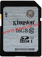 Карта памяти KINGSTON SDHC 16 GB G2 (CLASS 10) UHS-I (SD10VG2/16GB)