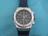 Часы Hublot Big Bang 882888 (114057) стальные мужские на черном каучуковом ремешке календарь