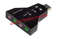 Звуковая карта Dynamode USB 8(7.1) каналов Virtual, 2 стерео-выхода, 2 моно-входа, RTL 3D PD (PD560)