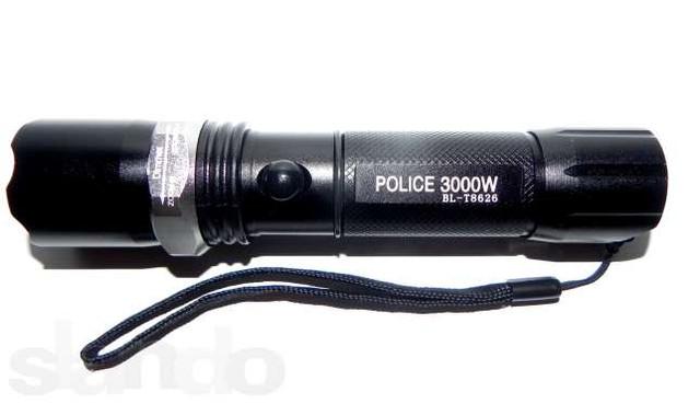 Фонарик Police BL-Т8626-3000W, zoom