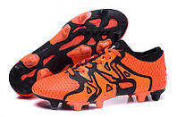 Футбольные бутсы adidas X15+ Primeknit FG/AG Solar Orange/Core Black/Bold Orange, фото 1