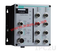8 FE with 802.3at PoE+ M12 ports, power input 24 - 110 VDC, -40 to 75 operation (TN-5508A-8PoE-WV-T)