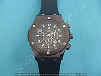 Часы Hublot Big Bang 882888 (114058) черные мужские на черном каучуковом ремешке с календарем