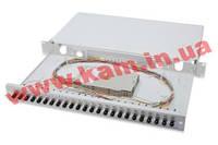 """Оптическая панель DIGITUS 19"""" 1U, 24xST, SM, splice cassette OM2 incl. (DN-96311)"""