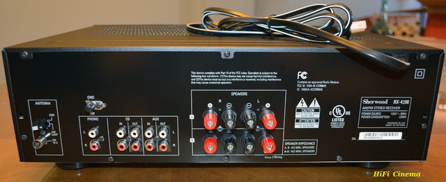 Sherwood RX-4208 interface, HiFi Cinema