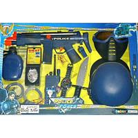 Набор полиции (маска, пистолет, бинокль, автомат трещотка) в кор-ке, 59-40-6 см, арт. 33550 HN