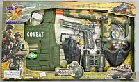 Набор полиции (жилет, маска, пистолет, бинокль, автомат трещотка), в кор-ке, 66-38-6 см, арт. 33480 HN