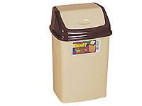 Ведро для мусора с плавающей крышкой 5 лт