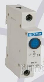Модуль доп устройство индикатор сигнальный контакт синий для автомат выключателя DIN-рейку 24В АС цена купить