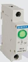 Модуль доп устройство индикатор сигнальный контакт зеленый автомат выключателя DIN-рейку 24В DС цена купить