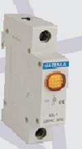 Модуль доп устройство индикатор сигнальный контакт желтый автомат выключателя DIN-рейку 220В АС цена купить