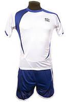 Футбольная форма игровая Europaw 003 (белый\синий)