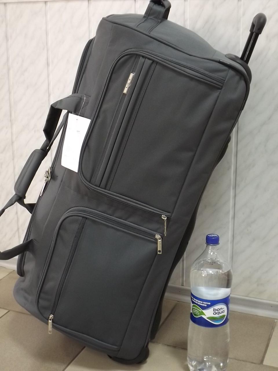 ca1cd8b7fb37 Большая дорожная сумка на колесах Lys 8430 Франция серая 110 литров -  интернет-магазин