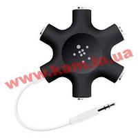 Разветвитель для наушников BELKIN (jack 3.5мм/ jack 3.5мм x5) RockStar Black (F8Z274btBLK)