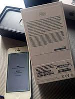 Оригинальный iPhone 5 32гб Silver Never lock с оригинальным комплектом