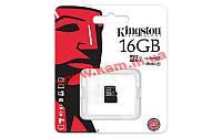 Карта памяти Kingston microSDHC 16GB Class 10 UHS-I R45/ W10MB/ s (SDC10G2/16GBSP)