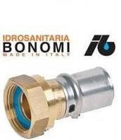 """40062608 Bonomi прямой пресс-фитинг с накидной гайкой 1""""В х Ø26"""