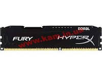 Оперативная память KINGSTON HyperX OC DDR3 4Gb 1600Mhz CL10 Low Fury Black (HX316LC10FB/4)