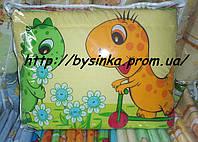"""Защита в кроватку детскую- """"Дино зелен. на желтом фоне"""""""