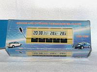 Автомобильные часы,термометр7037