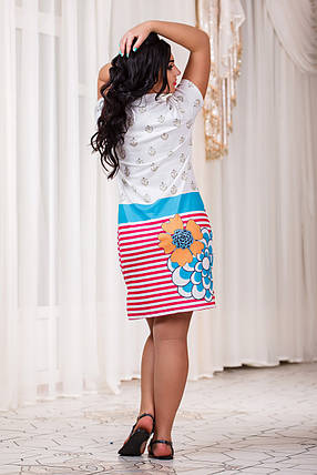 Д3275 Платье с воротником  размеры 50-56 , фото 2