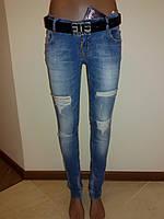 Зауженные джинсы рваные Sessanta 3905